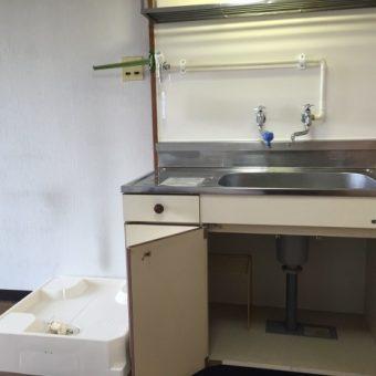 賃貸マンション洗濯機防水パン・洗濯機用水栓新設工事
