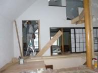 階段土台組み立て