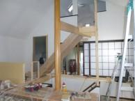 階段骨組み完成