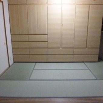 札幌市 和室にオーダー家具製作設置・畳表替えリフォーム
