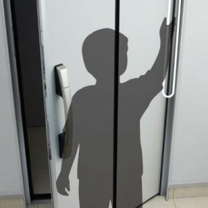 ドア 指はさみに配慮