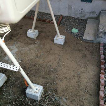 戸建住宅での埋設管交換及び土入れ替え工事