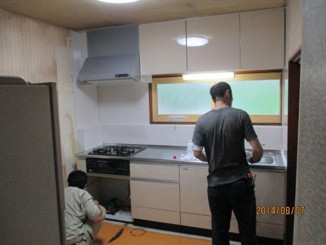 キッチン施工3