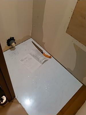 施工中トイレ