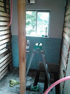 既存浴室解体5