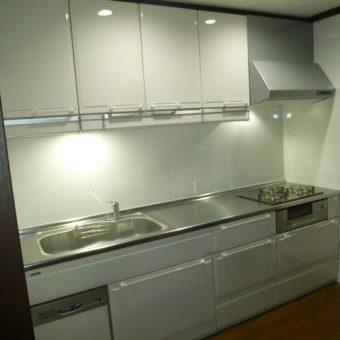 シンク下設置の食洗機+ワイドな引出しの収納量を確保のキッチンへ 札幌市
