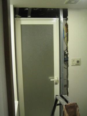 浴室ドア撤去