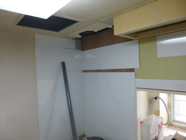 キッチンパネル施工