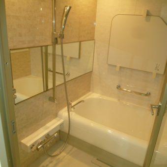ガラスを用いた開放的で上質なバスルーム 札幌市マンション