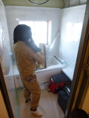 パネル浴室設置