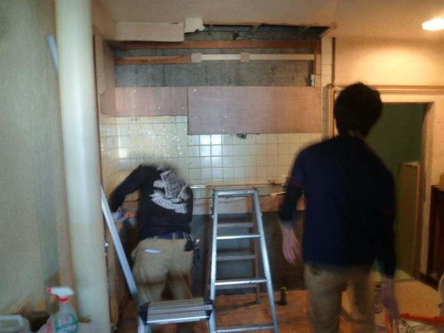 キッチン解体2