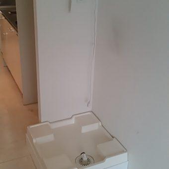 新規洗濯機置きスペースを造作して使いやすく!札幌市