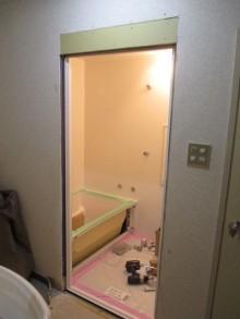 浴室入口木枠