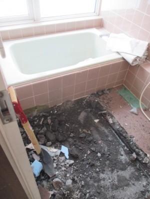 既存浴室解体6