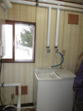新洗濯機置き場