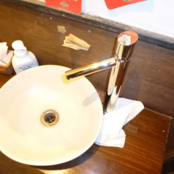 店舗手洗い洗面器水栓交換他工事 札幌市