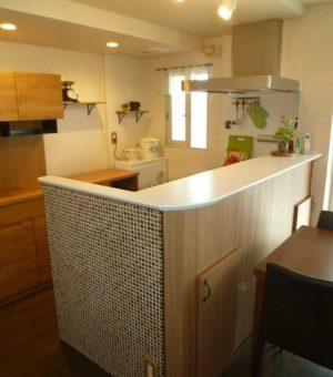 札幌市厚別区 こだわりの空間で奥様理想のキッチンへ