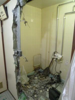 浴室空間解体スタート