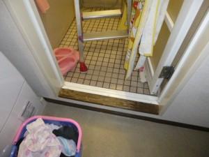 施工前浴槽入口