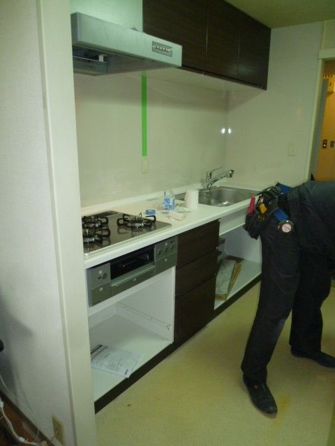システムキッチン施工
