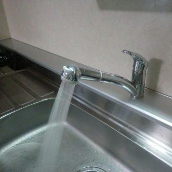 キッチン、三栄水栓製『ワンホールシングルレバー式混合栓』へ交換 札幌市
