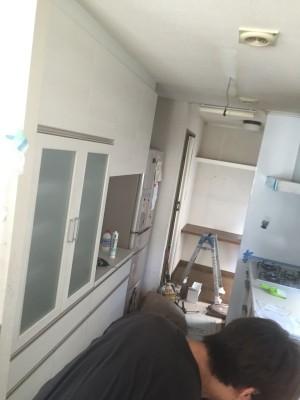 食器棚施工