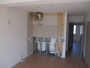 キッチン解体完了