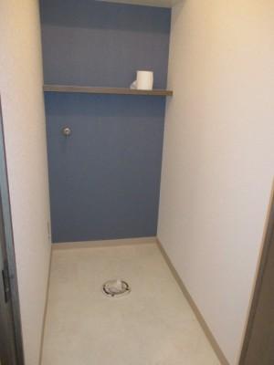 トイレ撤去 クッションフロア・クロス貼り替え