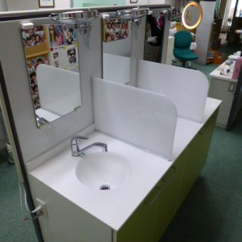 札幌市中央区テナント洗面化粧台交換工事