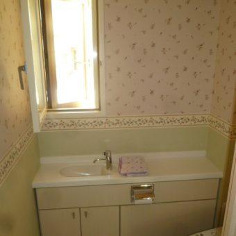 トイレ・洋室クロス張り替え、可憐に可愛らしくリフォーム!札幌市