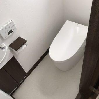 TOTOトイレ『ネオレスト』、手洗い器も付けてトイレ空間を快適施工事例!札幌市