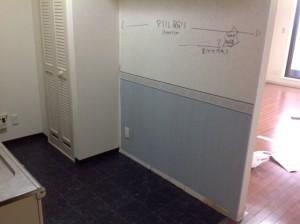 既存キッチン背後壁