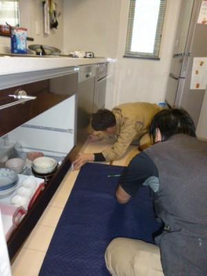 食器洗い機取り付け