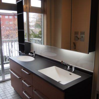 RC住宅リノベーション 製作洗面化粧台 札幌市