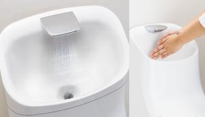 手洗いしやすい広くて深い手洗鉢