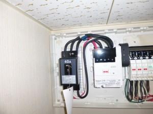 IHヒーター用電気配線入替
