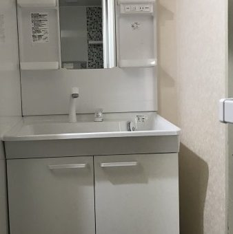 TOTO洗面化粧台『Vシリーズ』でシンプルにスッキリ!札幌市