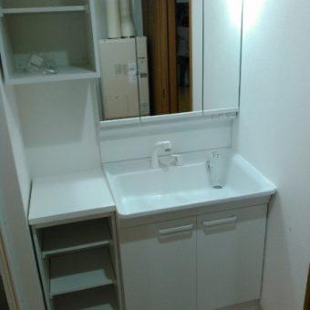 オーダーリネン庫設置+TOTO『Vシリーズ』洗面で使いやすく!札幌市