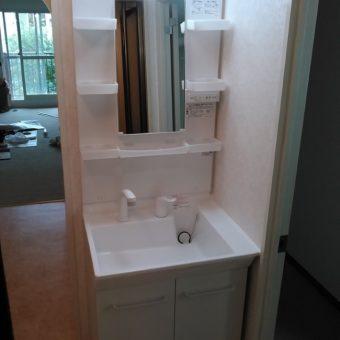 戸建住宅LIXIL洗面化粧台『PTシリーズ』へリフォーム! 札幌市