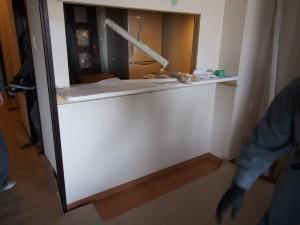 キッチン施工中 カウンター