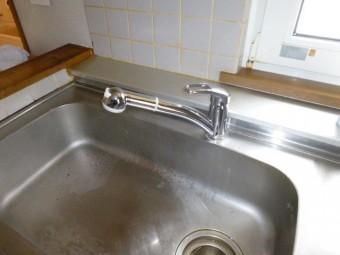 三栄水栓のシングルレバーシャワー水栓