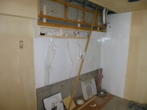 ホーロークリーンキッチンパネル施工2