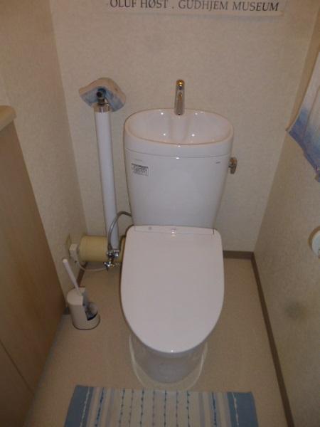 TOTO床置壁排水大便器『ピュアレストEX/手洗器付き』