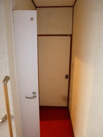 施工後ドア開け