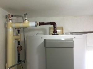 施工後電気温水器