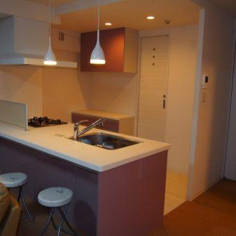 フラット対面システムキッチンへ クリナップ「ラクエラ」 札幌市マンション