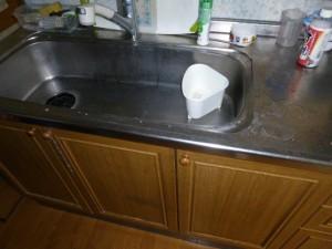 既存キッチン水垢