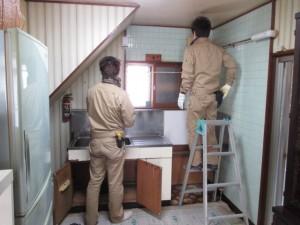 既存キッチン解体4