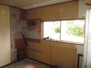 既存キッチン撤去解体