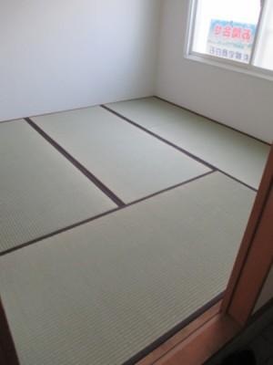 施工後和室畳